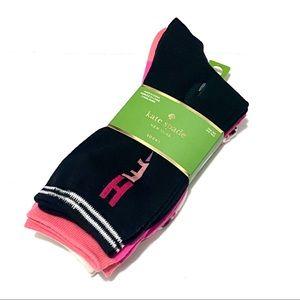 NEW pack of 3 Kate Spade Head Over Heels Socks